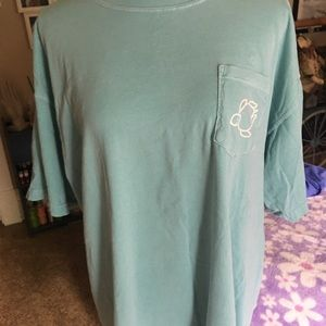 Shelly Cove XL Short Sleeve Aqua Green Shirt